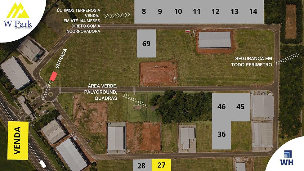 VENDA Lote 27 - 2.148 M2 - W Park - Mogi Mirim