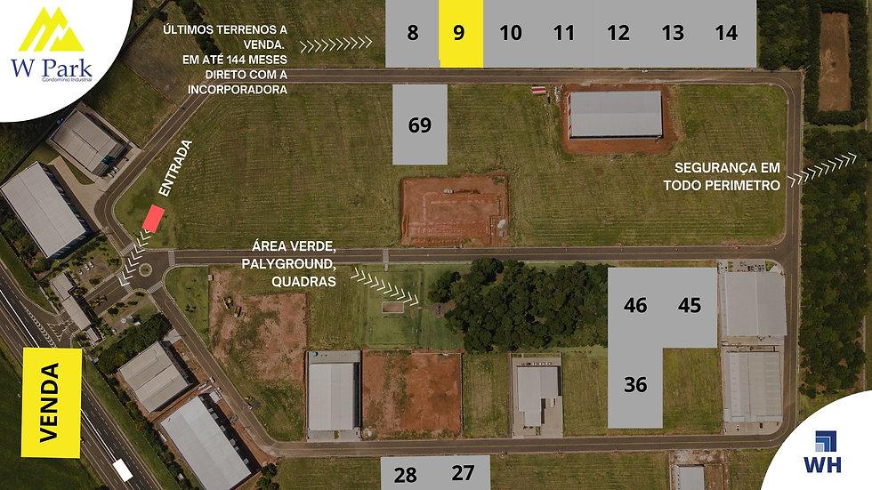 VENDA Lote 09 - 2.298M2 - W Park - Mogi Mirim