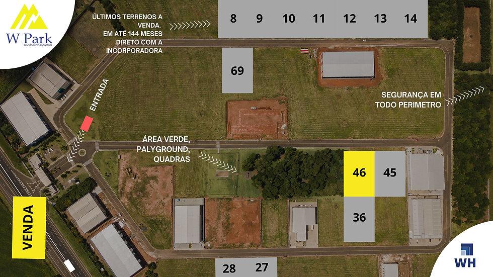 VENDA Lote 46 - 2.049,94 M2 - W Park - Mogi Mirim