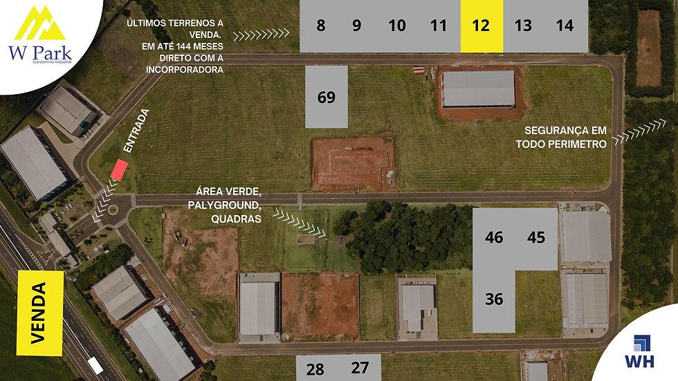 VENDA Lote 12 - 2.298M2 - W Park - Mogi Mirim