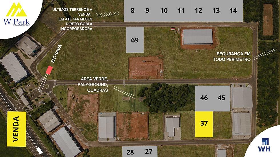 VENDA Lote 37 - 2.128 M2 - W Park - Mogi Mirim