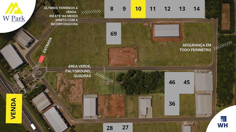 VENDA Lote 10 - 2.298M2 - W Park - Mogi Mirim