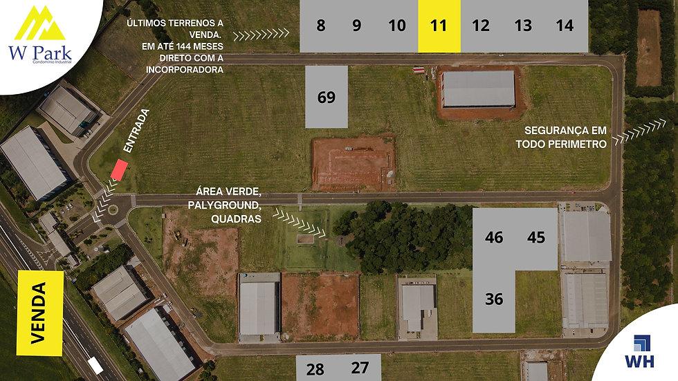 VENDA Lote 11 - 2.298M2 - W Park - Mogi Mirim