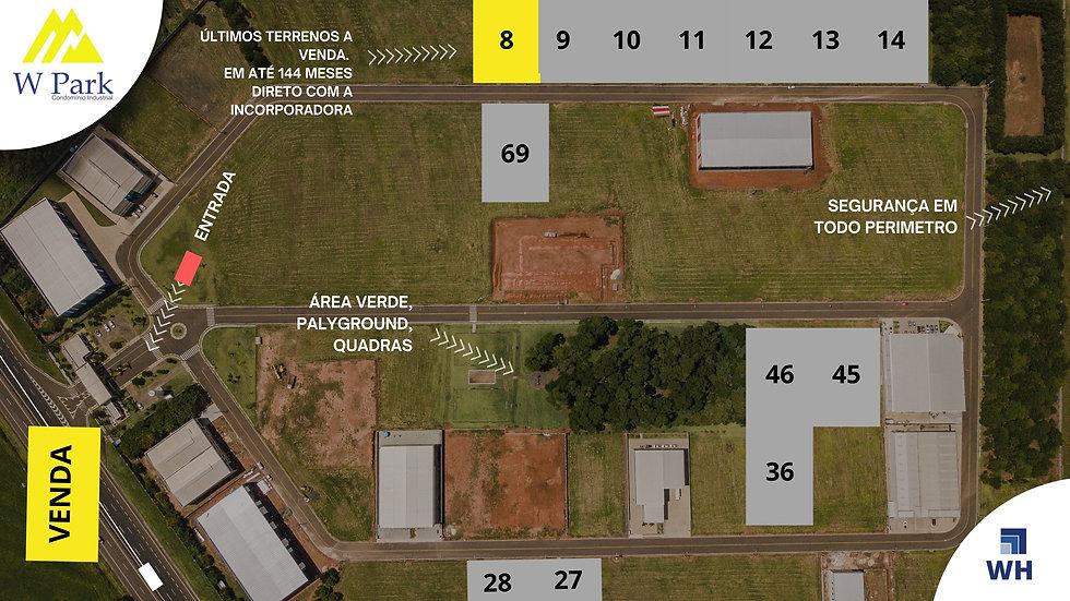 VENDA Lote 08 - 2.298M2 - W Park - Mogi Mirim