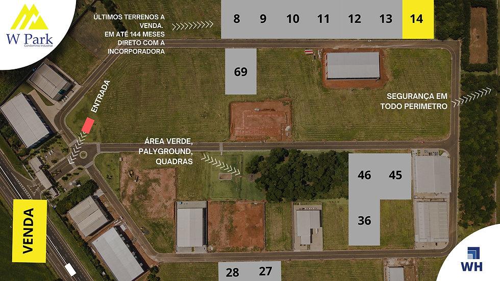 VENDA Lote 14 - 2.298M2 - W Park - Mogi Mirim