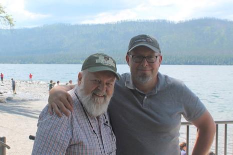 john and joel at Glacier