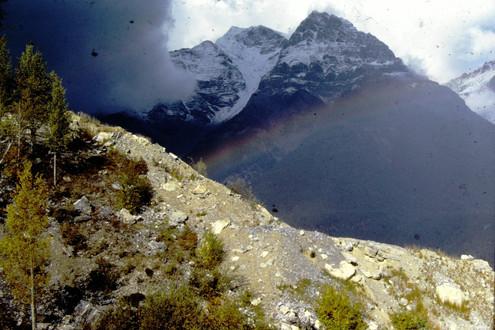 rainbow in Glacier NP