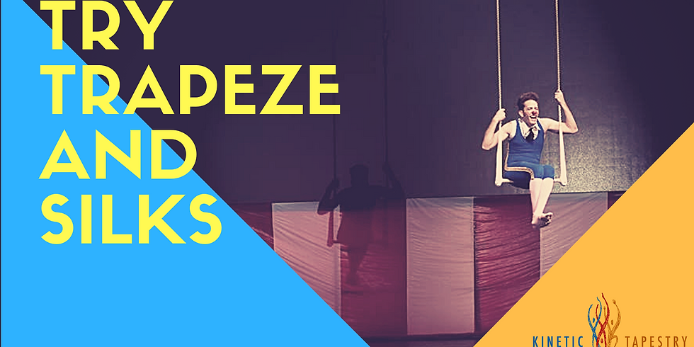 Try Trapeze and Silks - Teen and Adults - 10am-11am