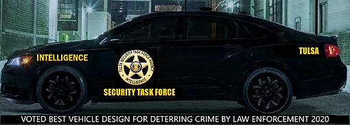 our security patrol car voted best design by law enforcement of Tulsa security companies