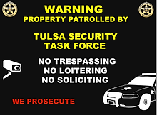 security guard company sign
