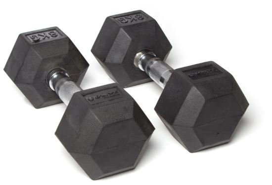 O'live Rubber Hex Dumbells