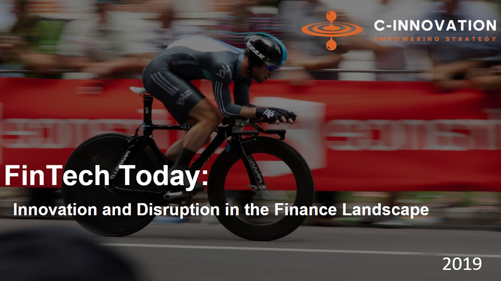 Innovation and Disruption in the Finance Landscape