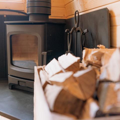 Wood Burner & Log Store
