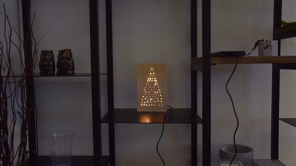 WLEB - 010(木燈箱 - 三角圖案)