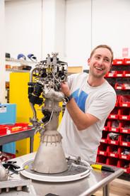 Ursa Major Tech CEO with Rocket Engine
