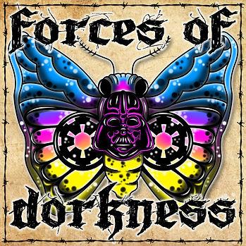 Vader Moth Sticker