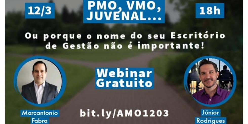 Webinar - PMO, VMO, Juvenal... ou porque o nome do seu Escritório de Gestão não é importante!