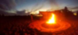 Lagerfeuer auf der Expedition