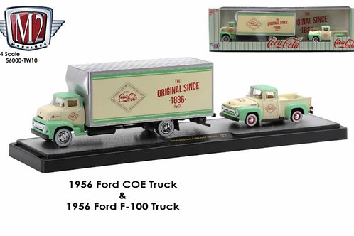 M2 1956 Ford COE and F-100 truck set, Coca Cola