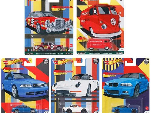 HW Car Culture Deutschland Design, set of 5