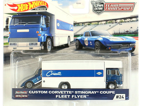 HW Team Transport #24 Custom Corvette Stingray Coupe Fleet Flyer