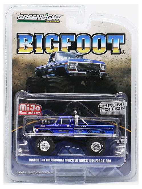 GL 1974 Ford F-250 Bigfoot #1 Monster Truck Chrome Edition