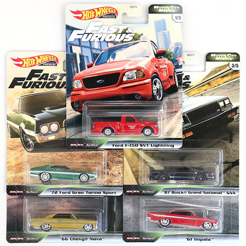 HW Fast & Furious Motor City Muscle Set of 5 (2020)