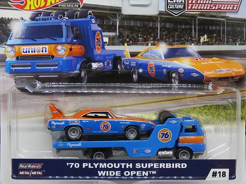 HW Team Transport #18 '70 Plymouth Superbird Wide Open