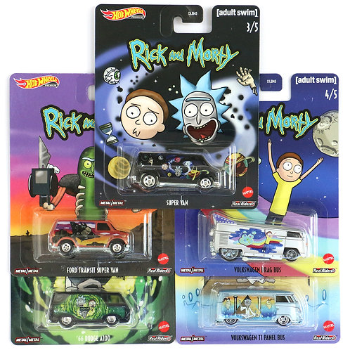 HW Rick and Morty Set of 5
