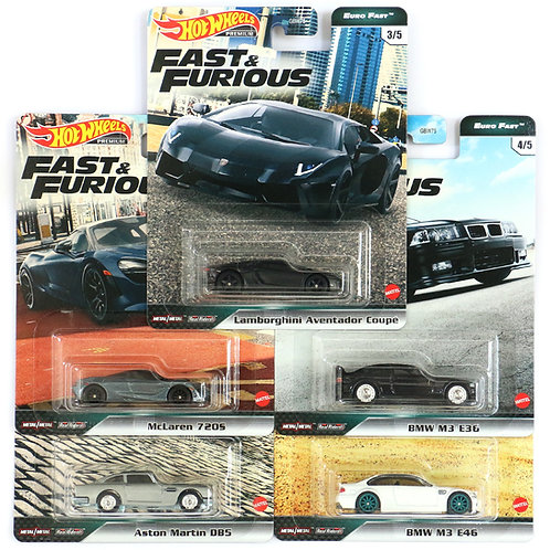 HW Fast & Furious Euro Fast Set of 5 (2020)