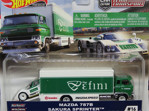 HW Team Transport #16 Mazda 787B Sakura Sprinter