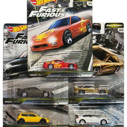 HW F&F Fast Tuners Set of 5