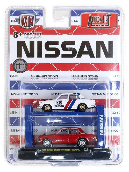 M2 Auto-Lift 2-Pack Nissan 1969 Datsun Bluebird 1600SSS
