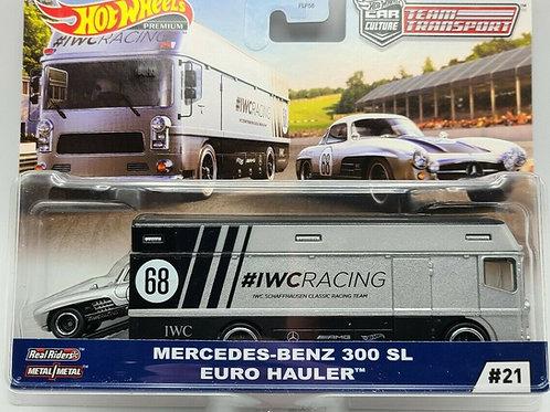HW Team Transport #21 Mercedes-Benz 300 SL, Euro Hauler, IWC Racing