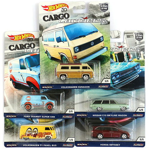 HW 2018 Cargo Carriers Set of 5