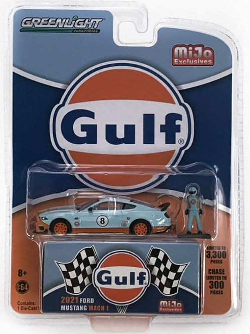 GL 2021 Ford Mustang Mach 1, with figure, Gulf, MIJO Exclusive