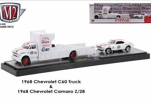 M2 1968 Chevrolet C60 Truck and Camaro Z/28 set, Coca Cola