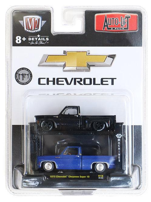 M2 Auto-Lift 2-Pack 1973 Chevrolet Cheyenne Super 10