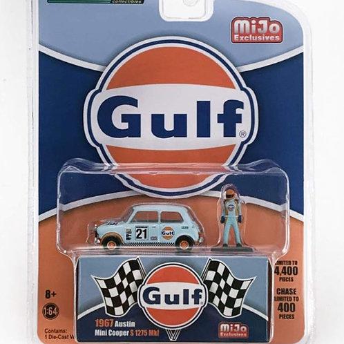 GL 1967 Austin Mini Cooper S, with figure, Gulf, MIJO Exclusive