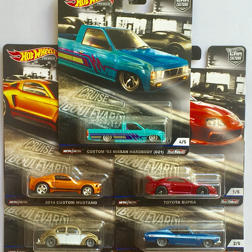 Hot Wheels 2019 Cruise Boulevard Set of 5