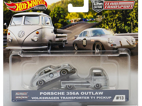 HW Team Transport #13 Porsche 356A Outlaw Volkswagen Transporter T1 Pickup