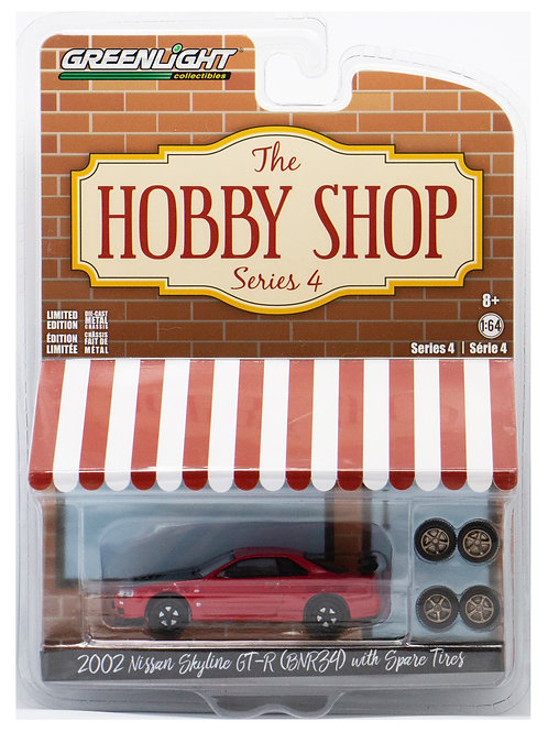 GL The Hobby Shop 2002 Nissan Skyline GT-R (BNR34) with Spare Tires