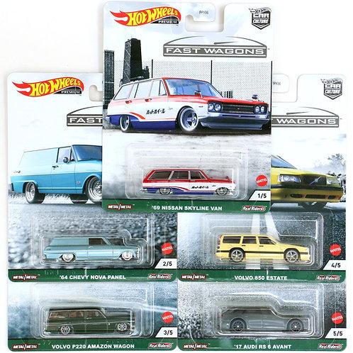 HW Fast Wagons Set of 5