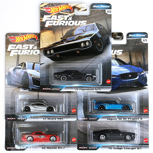 HW F&F Full Force Set of 5