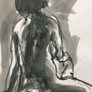 Seated life drawing #1