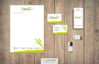 Logo-Redesign · Briefbogen · Visitenkarte · Aufkleber für Seife & Schampoo