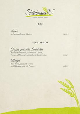 Fisch · Vegetarisch