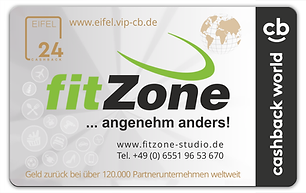 Fitnessstudio Niederprüm fitZone Vorteilsprogramm Cashback Card