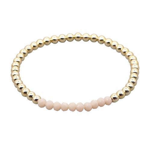 Cream & Gold Stretch Bracelet