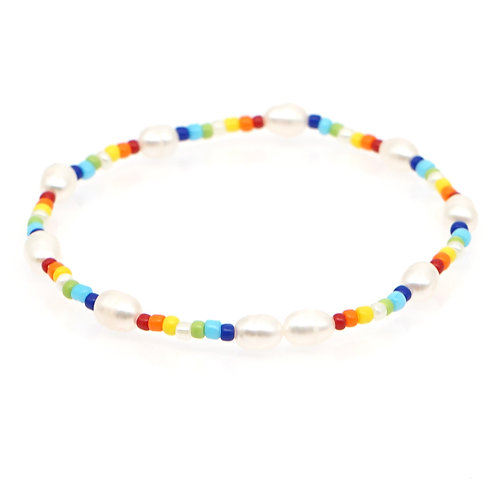 Natural Pearl colourful bracelet #2